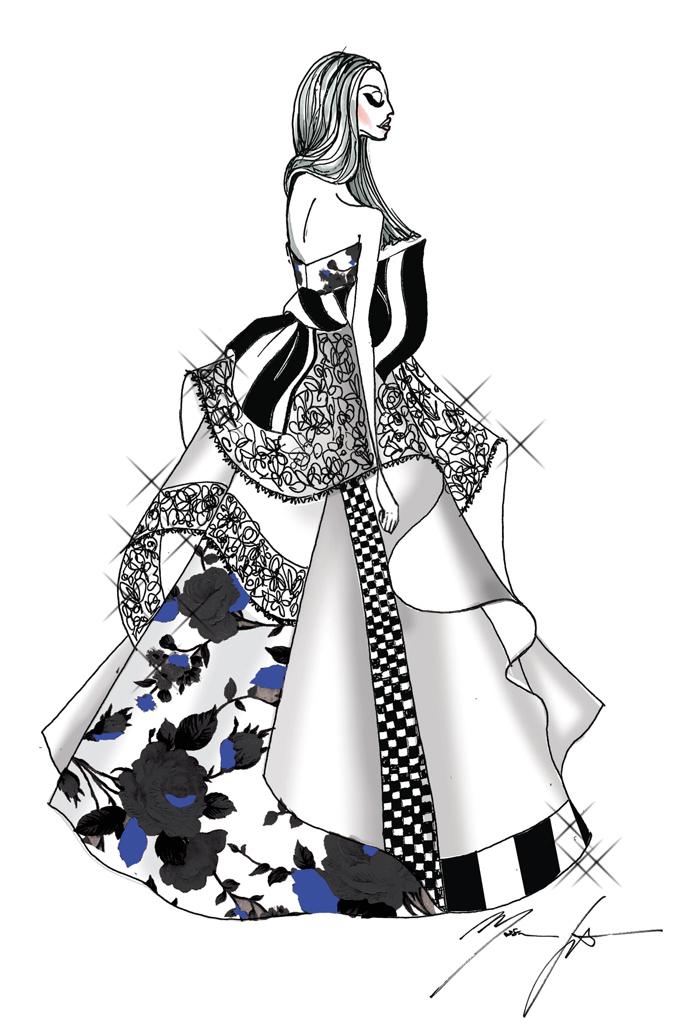 Свадебное платье Леди Гага от Michael Wilkinson, Tim Martin