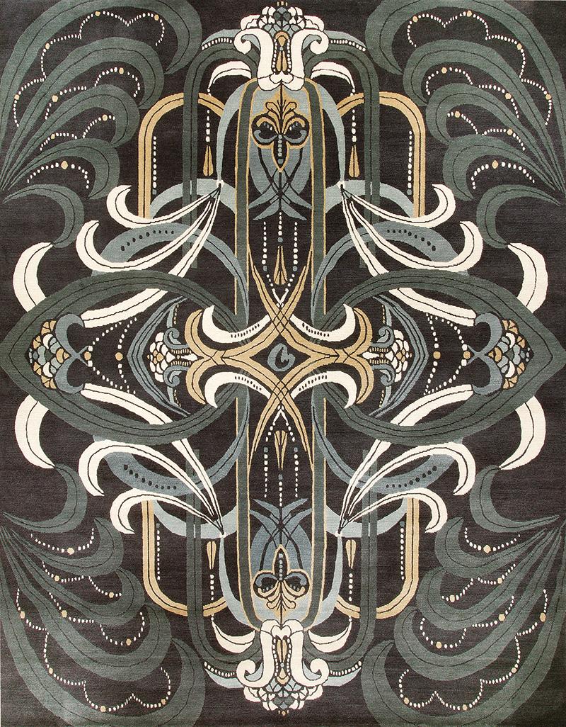 Ковер Rhapsody, дизайн Кэтрин Мартин, коллекция The Deco Collection, Designer Rugs, салоны DeLuxe Home Creation, шоу-румы Promemoria, 275 674 руб.