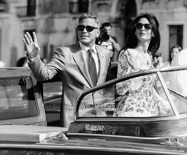 Джордж Клуни и Амаль Аламуддин накануне свадьбы в Венеции