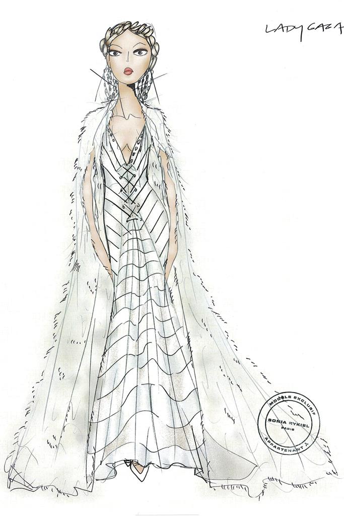 Свадебное платье Леди Гага от Sonia Rykiel