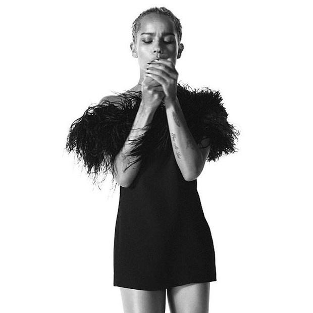 Зои Кравиц снялась в рекламе Saint Laurent фото [3]