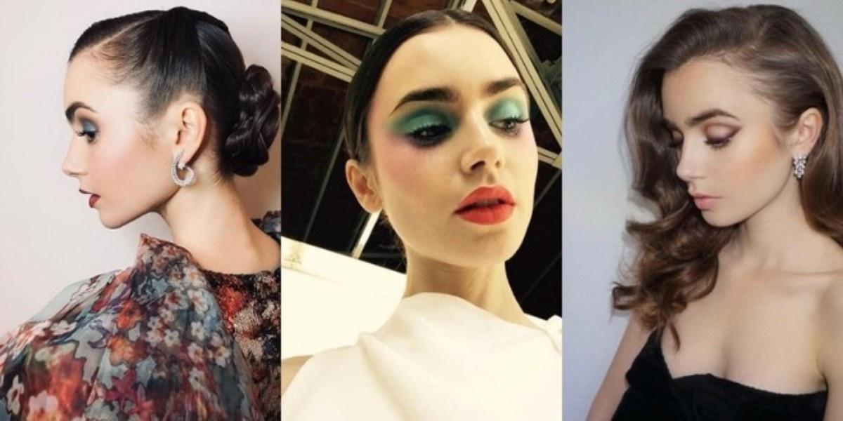 Макияж и укладки: 18 самых красивых образов Лили Коллинз