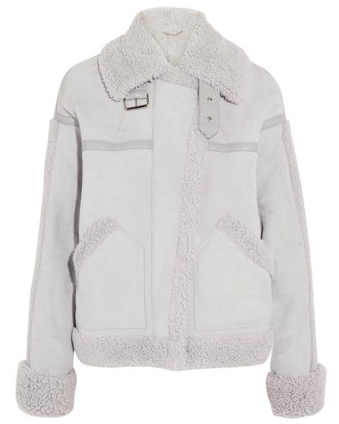 Модные зимние куртки из кожи с мехом 2018 фото