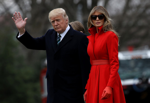 Мелания и Дональд Трамп