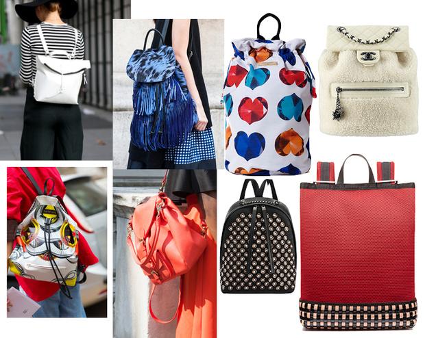 Модные аксессуары весна лето 2015 рюкзаки