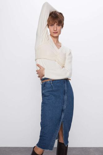 Всего одна юбку на весну — джинсовая миди, как носили наши мамы (фото 11.2)