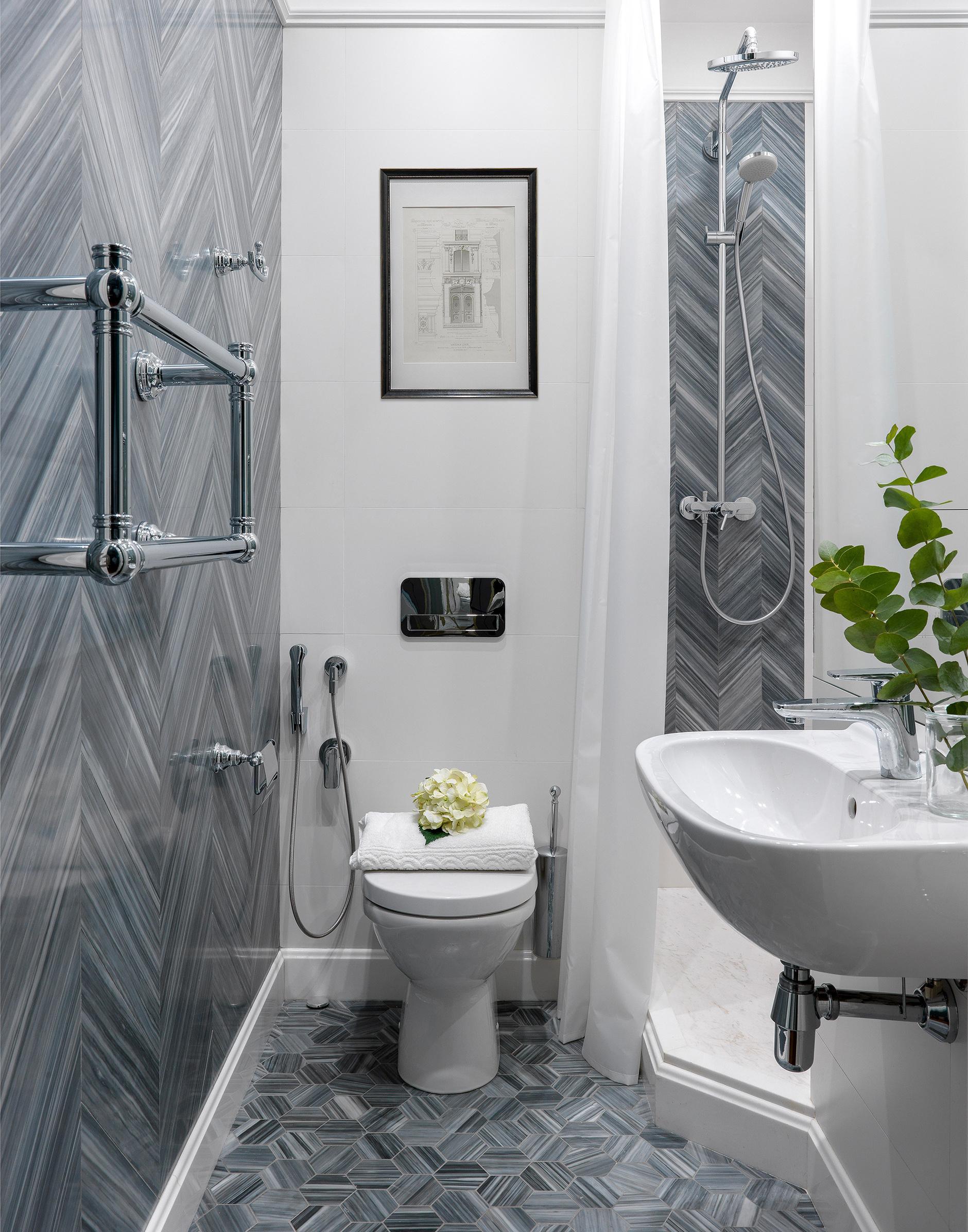 Маленькая ванная комната: 20 интерьеров (галерея 0, фото 0)