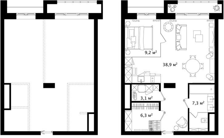 Первый план: все, что нужно знать о планировке маленьких квартир (фото 20)