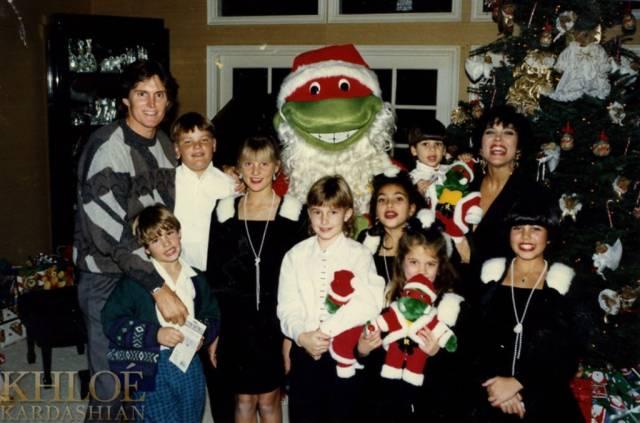 Крис и Брюс Дженнер с детьми