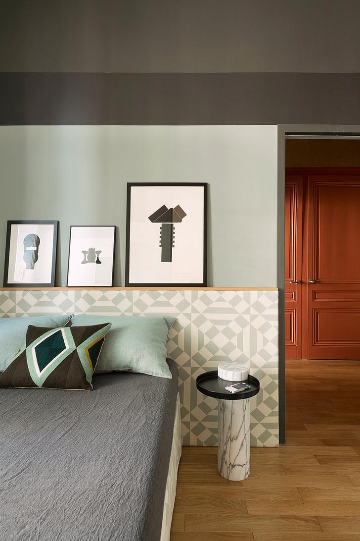 Квартира в зеленых тонах фото [9]