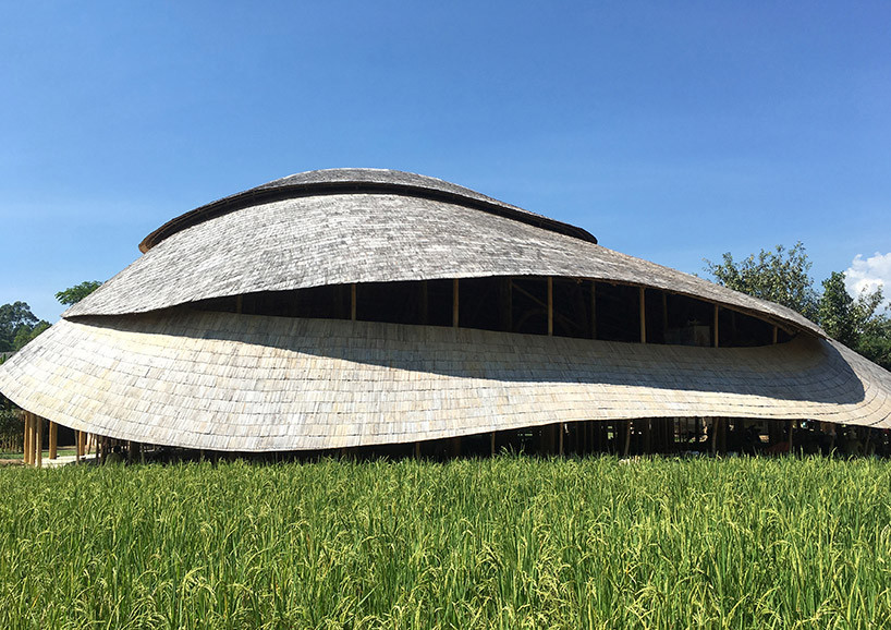 В Таиланде построили спортзал из бамбука | галерея [1] фото [4]
