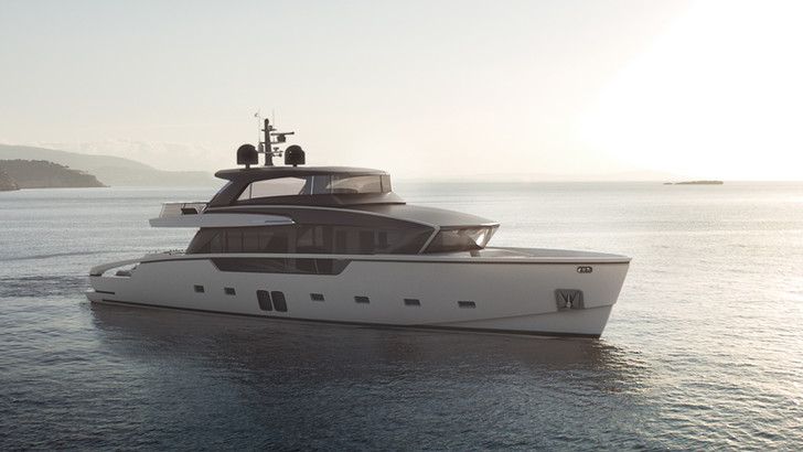 Яхта Sanlorenzo SX88, дизайн Пьеро Лиссони
