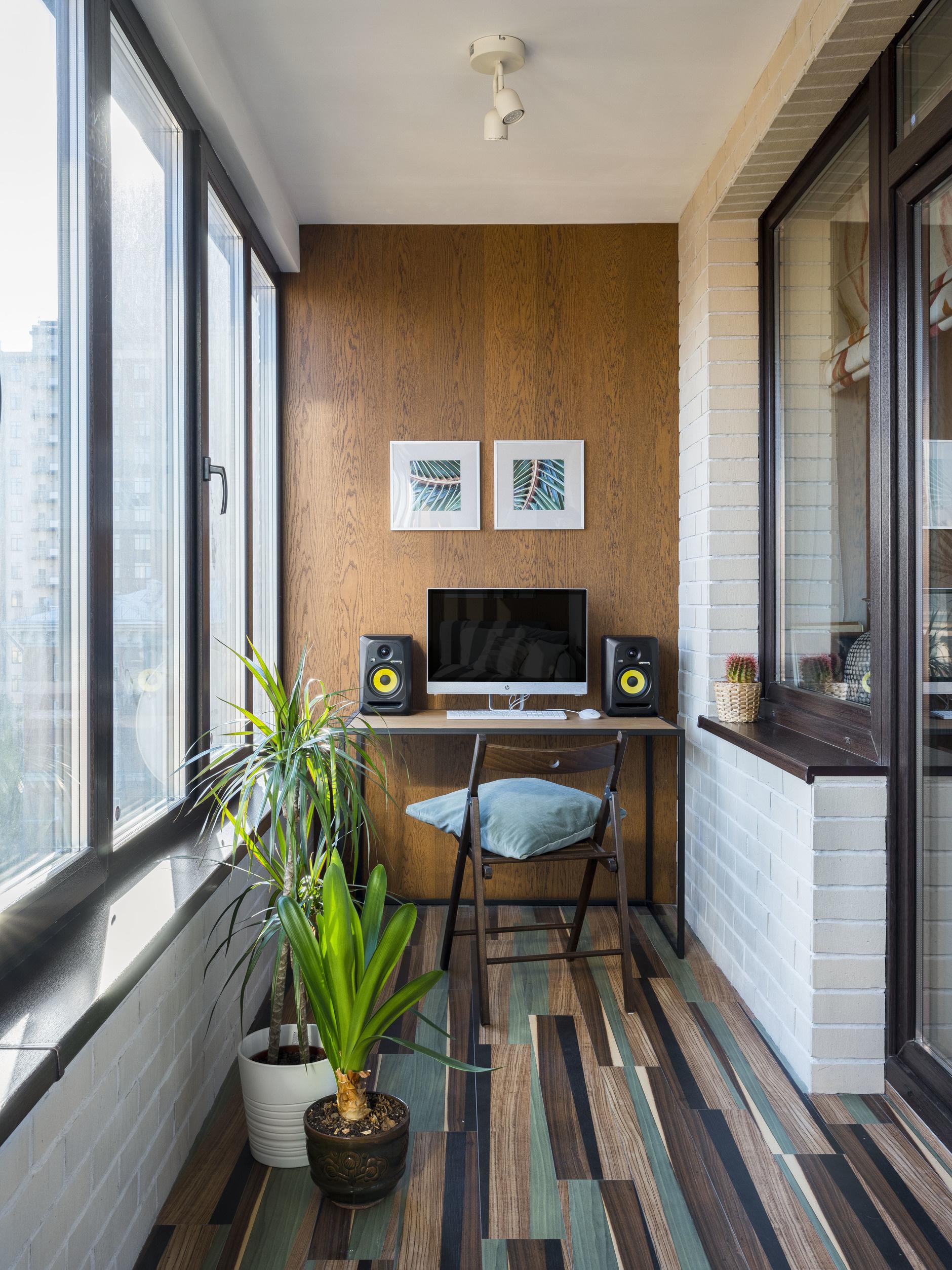 Рабочее место на балконе: 10+ идей и решений (галерея 0, фото 2)