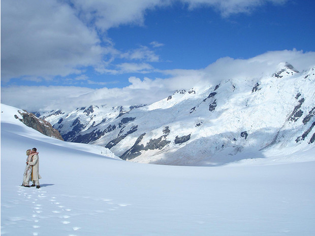 Вершина ледника в Новой Зеландии