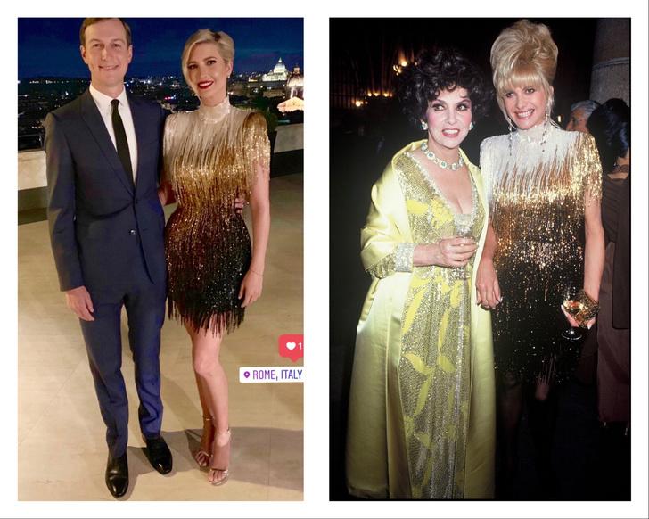 Богатое наследство: Иванка Трамп в легендарном платье своей знаменитой мамы (фото 1)