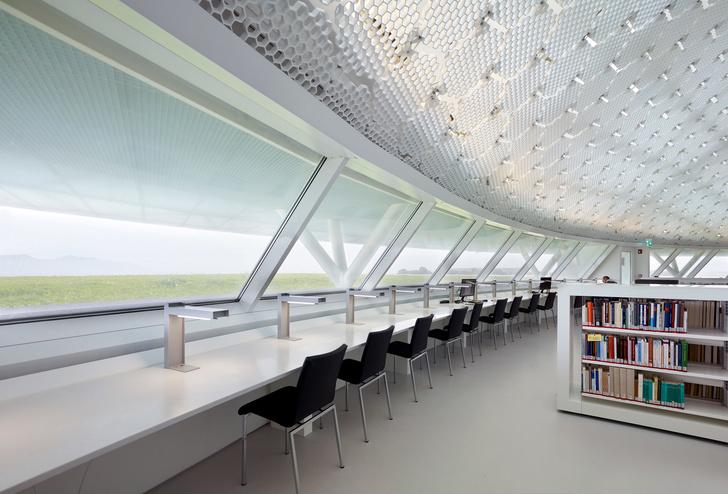 Яркая библиотека по проекту Жана Нувеля (фото 12)
