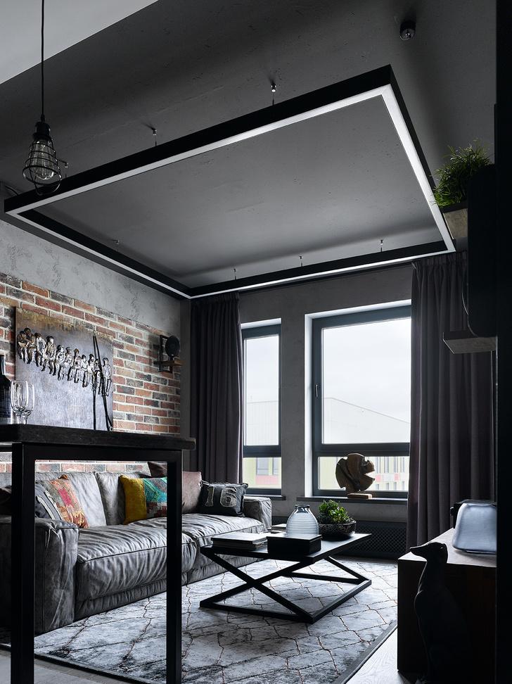 Московская квартира 83 м² в стиле лофт (фото 0)