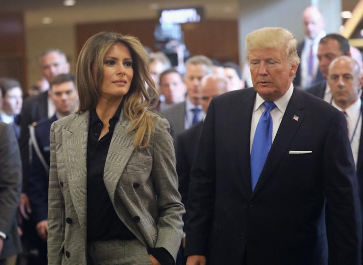 Идеальный образ Мелании Трамп сегодня: брючный костюм Ralph Lauren