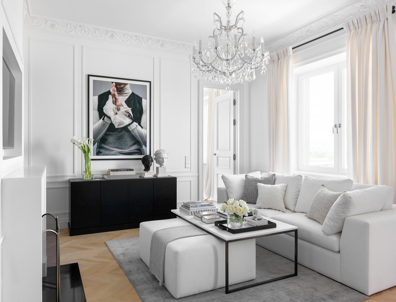Черно-белые интерьеры: 30+ вдохновляющих примеров (галерея 1, фото 4)