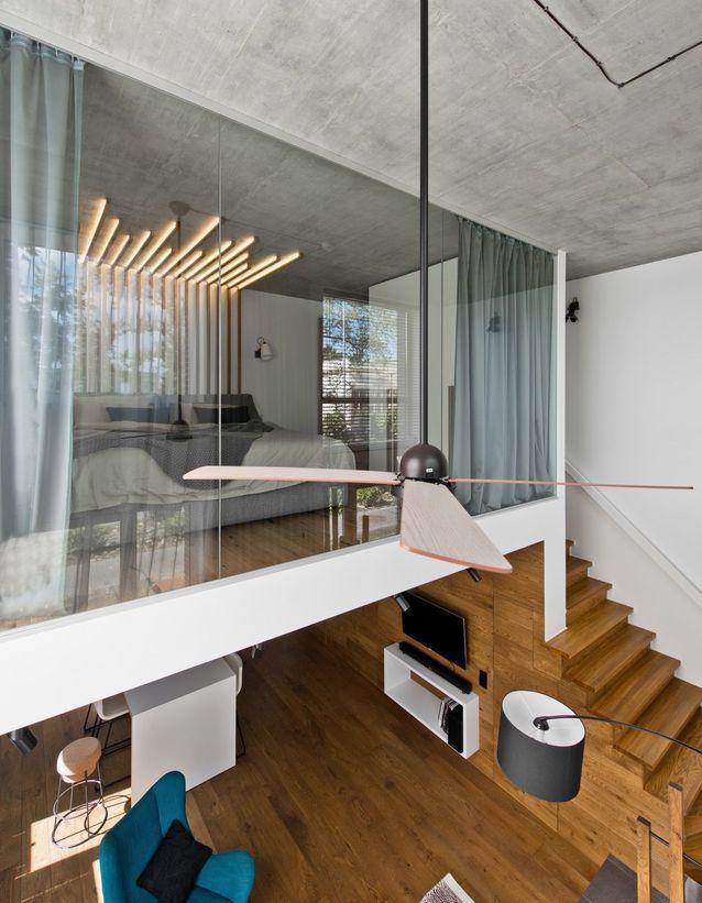 Спальня в стиле лофт: 10 кроватей на чердаке (галерея 0, фото 2)