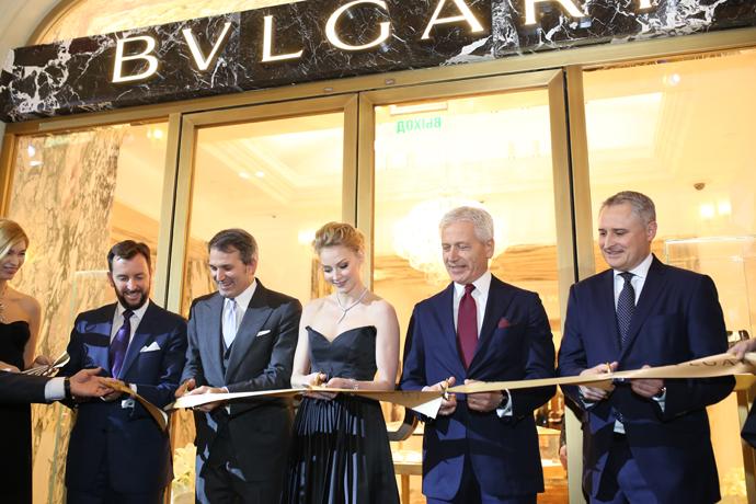 Открытие бутика Bulgari в ГУМе