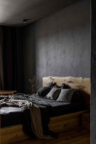 Брутальная квартира в бежевых тонах с черной спальней 72 м² (фото 16.1)