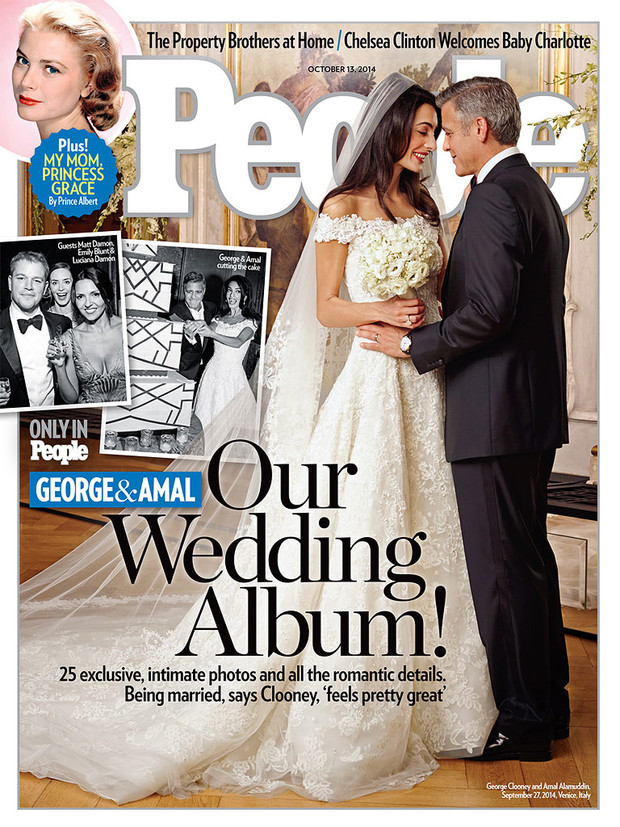 Джордж Клуни и Амаль Аламуддин на обложке People