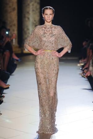 Показ Elie Saab коллекции сезона Осень-зима 2012-2013 года haute couture - www.elle.ru - Подиум - фото 404564