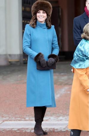 Леди в голубом: два новых образа Кейт Миддлтон в Норвегии (фото 5)
