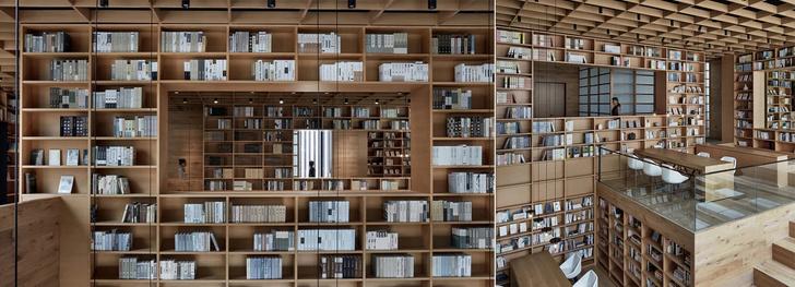 Деревянная библиотека в Ханчжоу (фото 13)