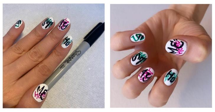 Как сделать маникюр с помощью маркеров (фото 1)
