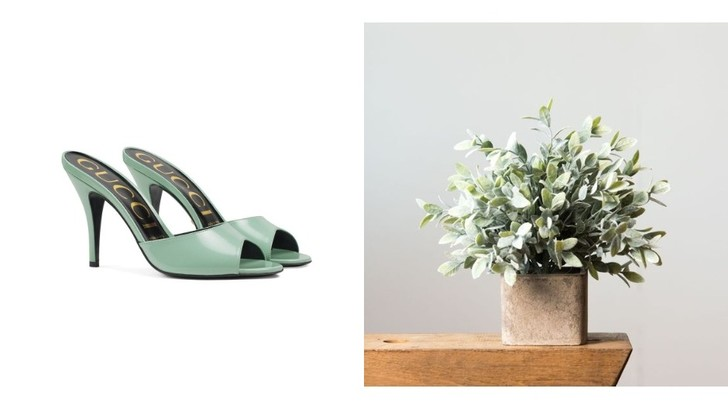 11 пар обуви в оттенке шалфея (фото 1)