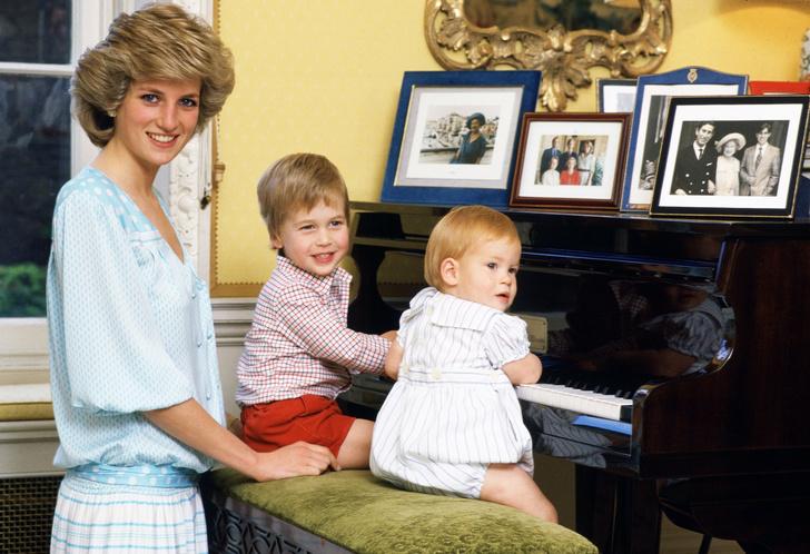Редкие кадры принцессы Дианы с детьми (фото 1)