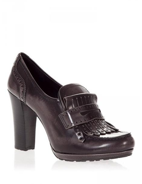 Лоферы на каблуке Prada