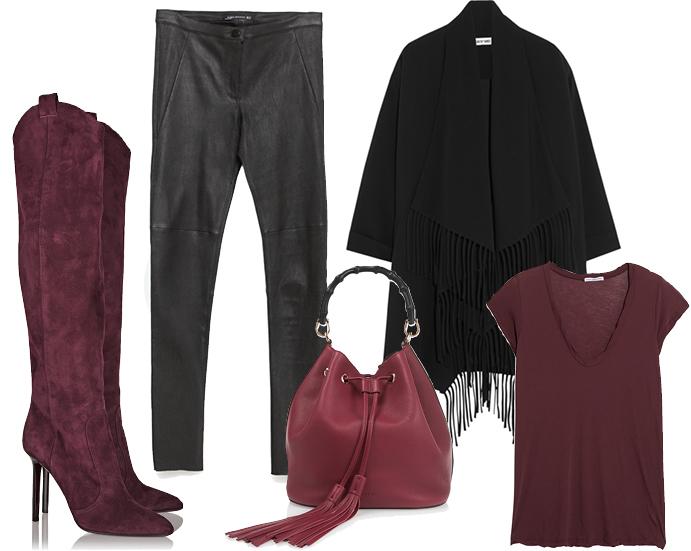 Выбор ELLE: джеггинсы Zara, футболка James Perse, сумка Gucci, пальто Elizabeth and James