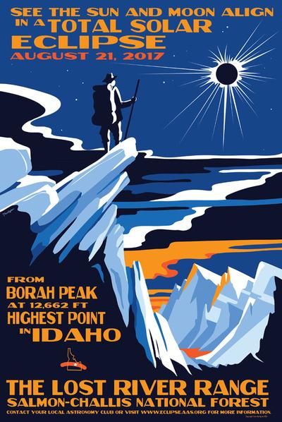 Художник Тайлер Нордгрен создал постеры в честь сегодняшнего солнечного затмения   галерея [1] фото [3]