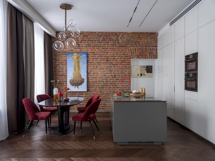 Лофт и ар-деко: квартира 124 м² в Москве (фото 3)
