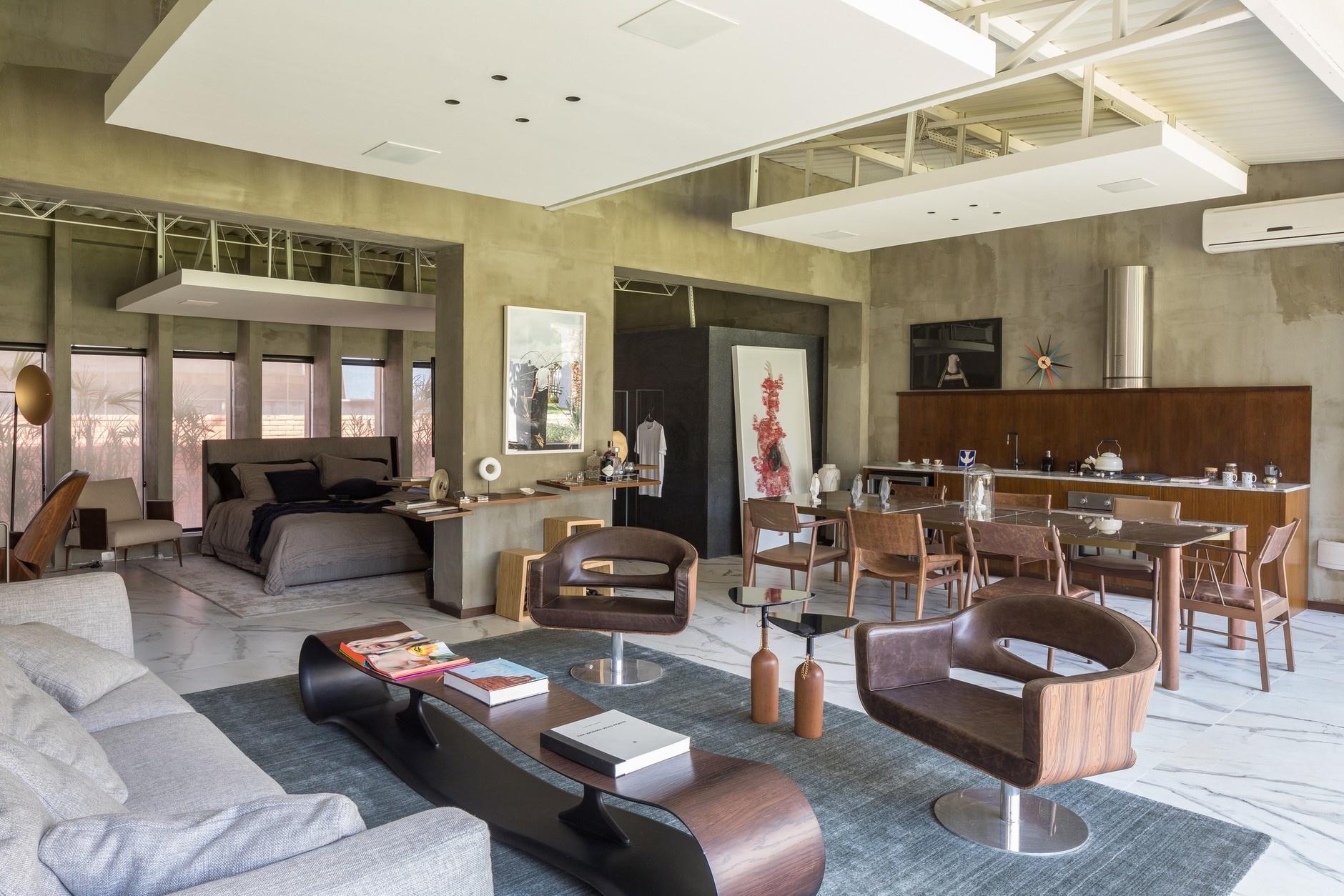 10 интерьеров в индустриальном стиле (галерея 0, фото 4)