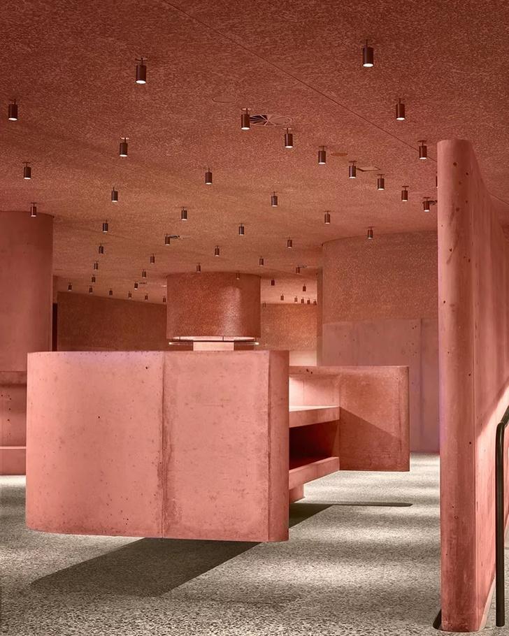 Розовая пристройка к Beverly Center по проекту Дэвида Аджайе (фото 7)