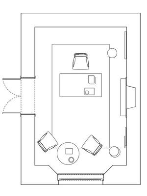 Готовый проект: кабинет по мотивам работы «Аполлон и Художник» (фото 3)