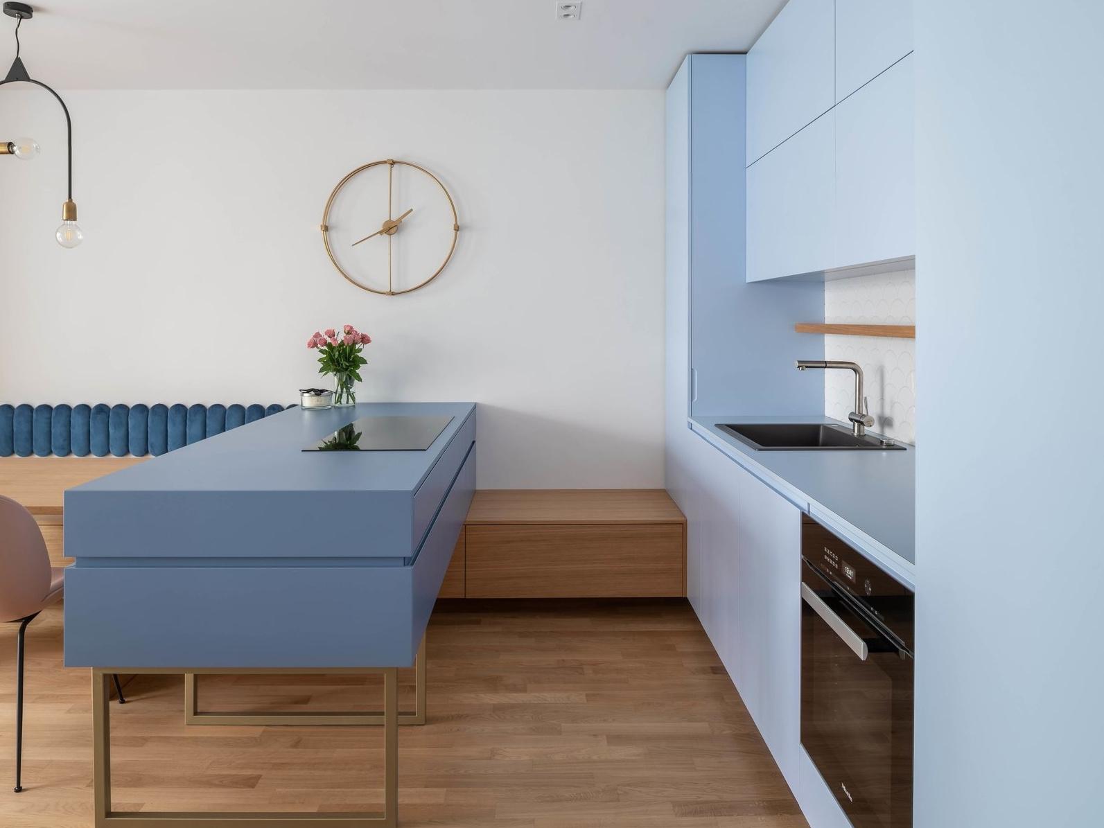 Голубой цвет на кухне: 20+ примеров (галерея 1, фото 2)