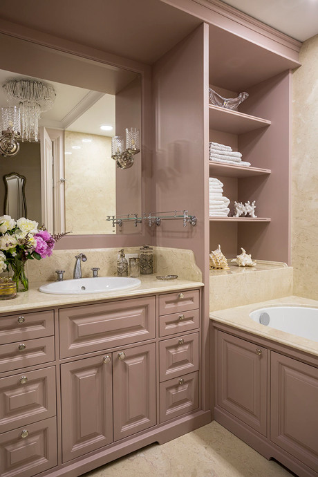 Розовая пудра: 12 ванных комнат в розовой гамме (галерея 0, фото 1)