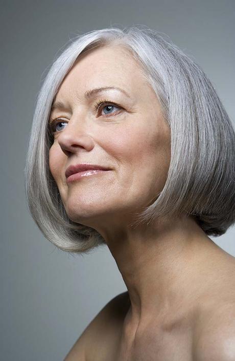 прически из седых волос фото