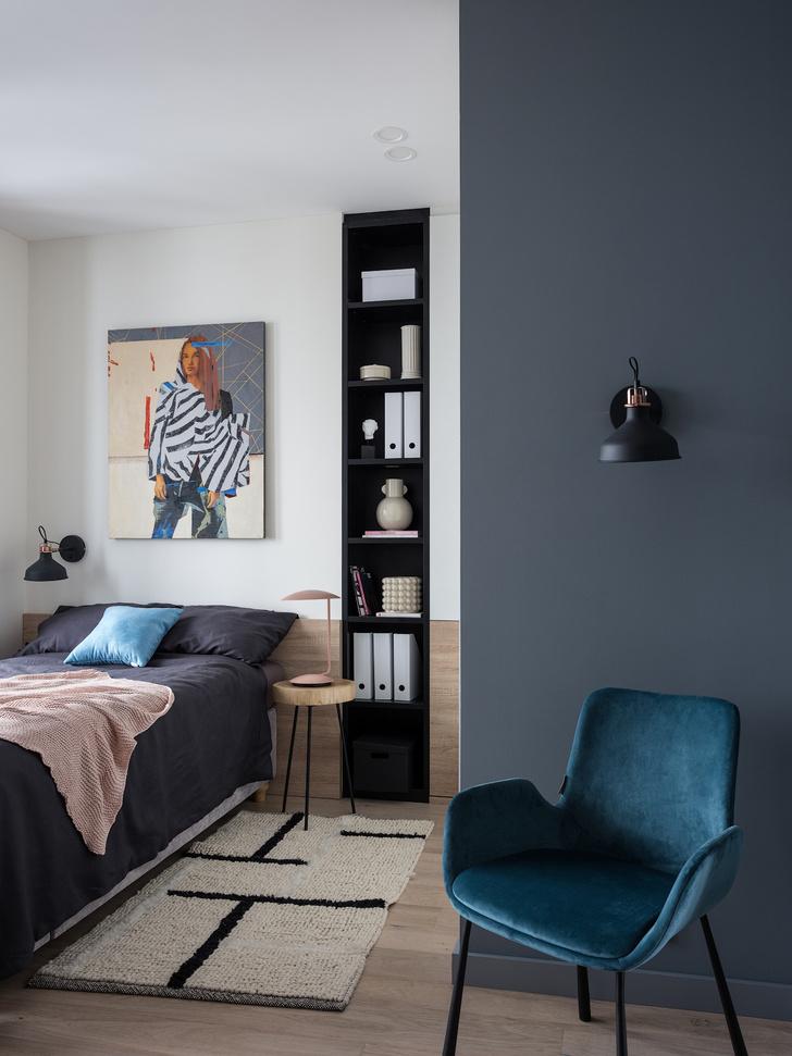 Московская квартира 70 м² в стиле ретро-минимализм (фото 11)
