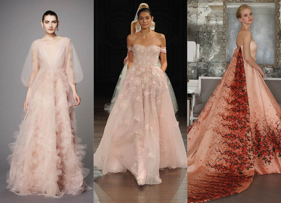 Стили свадебных платьев Marchesa, Naeem Khan, Romona Keveza