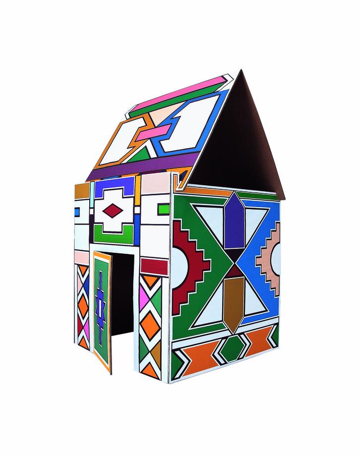 Домик Ndebele для подвижных игр, дизайн Витторио Локателли для Driade, www.driade.com