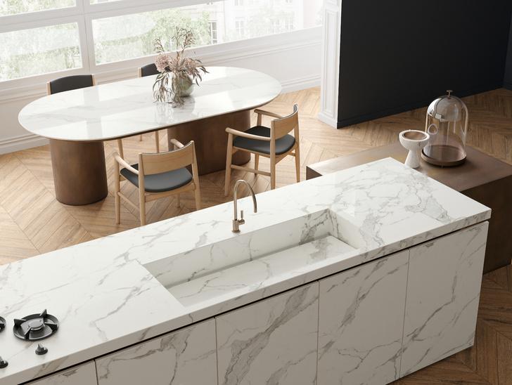 Керамическая плитка на кухне. Модные решения (фото 14)