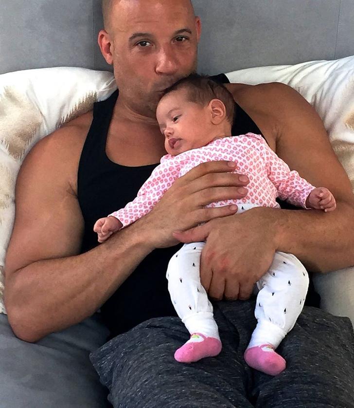 Вин Дизель с младшей дочерью Полин