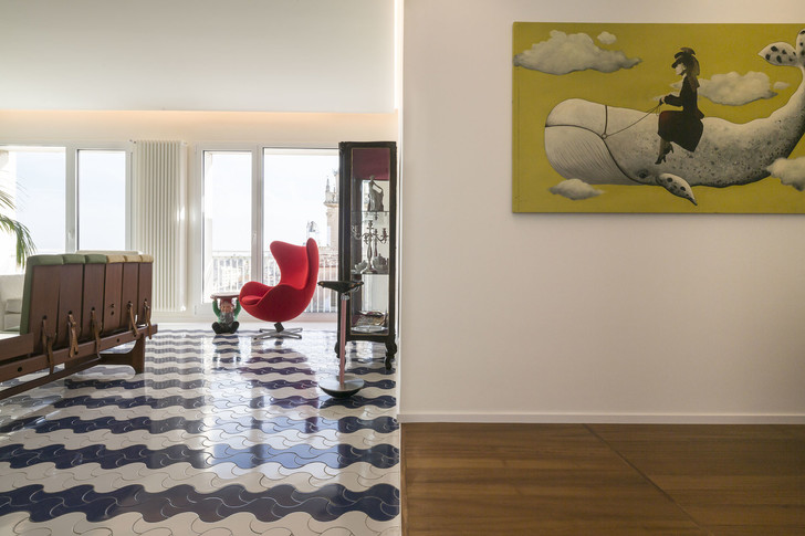 Белая квартира с винтажной плиткой на Сицилии (фото 5)