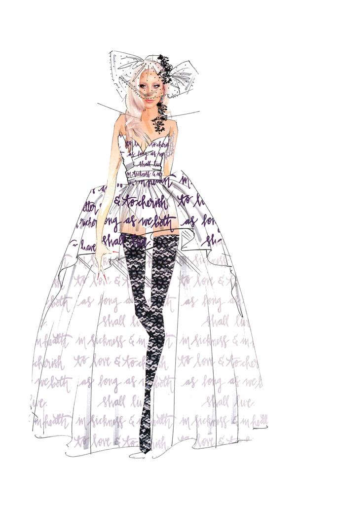 Свадебное платье Леди Гага от Nicole Miller